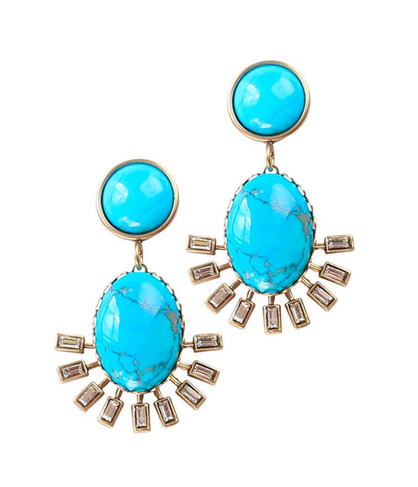 ROXY EARRINGS IN TURQUOISE