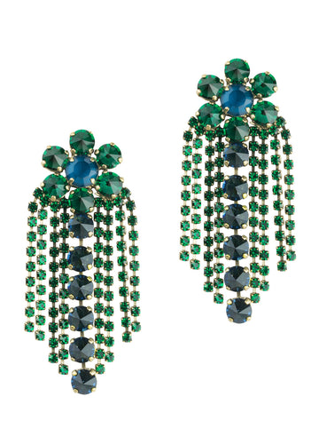 Siena Statement Earring in Emerald