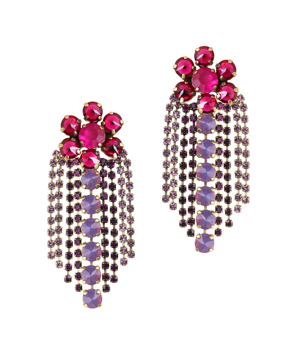 Siena Statement Earring in Ruby