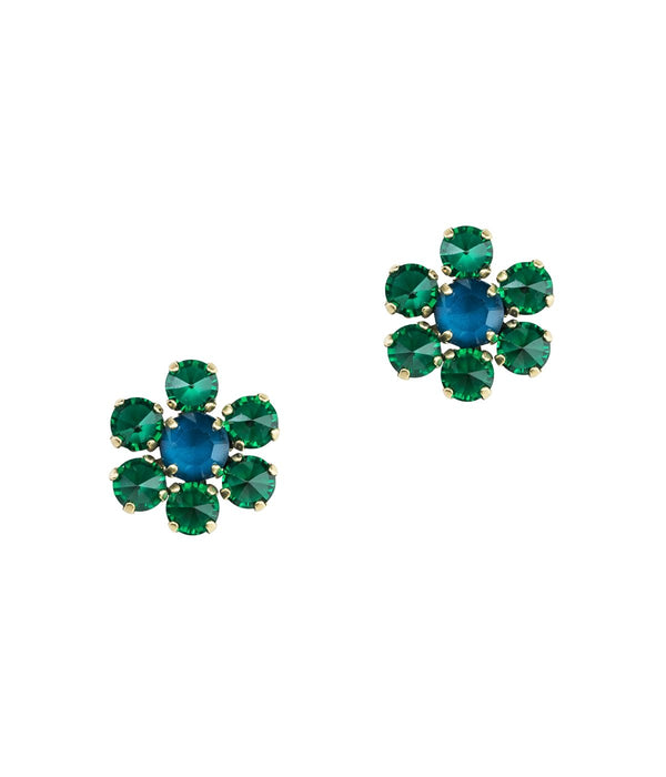 SIENA STUDS IN EMERALD