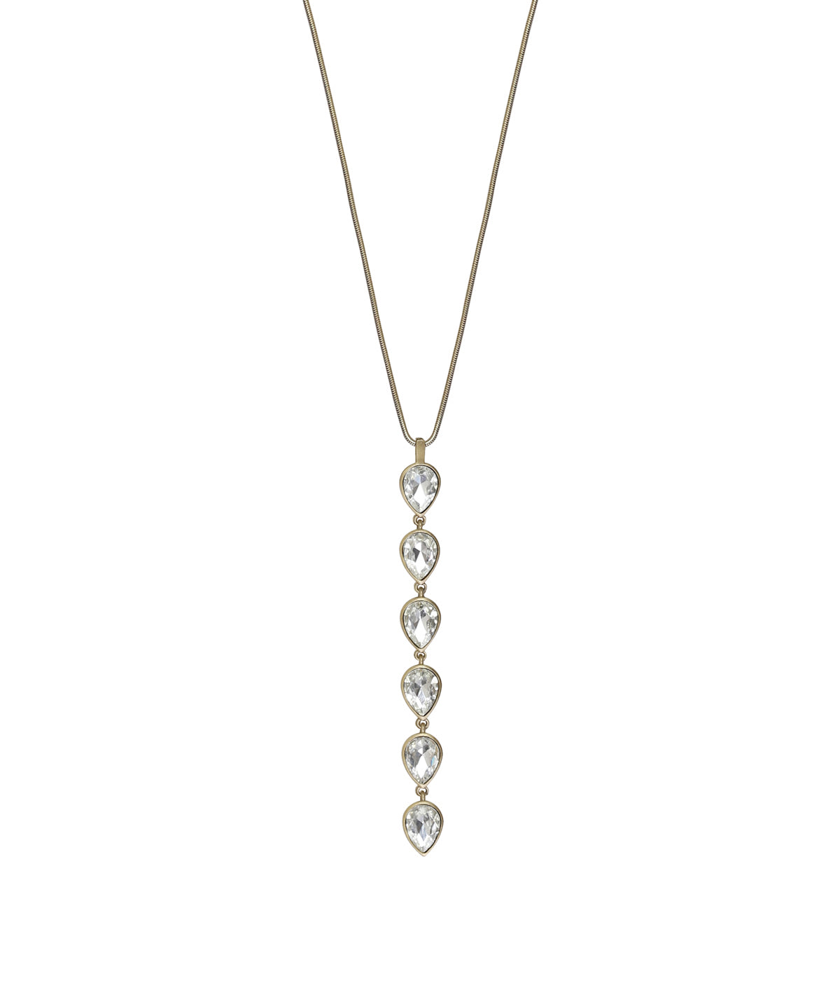 SYDNEY NECKLACE IN GOLD CRYSTAL