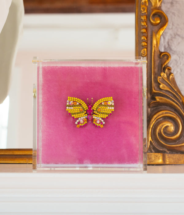 Butterfly Jewelry - Loren Hope Butterly Pin in Yellow, Fuchsia, Topaz