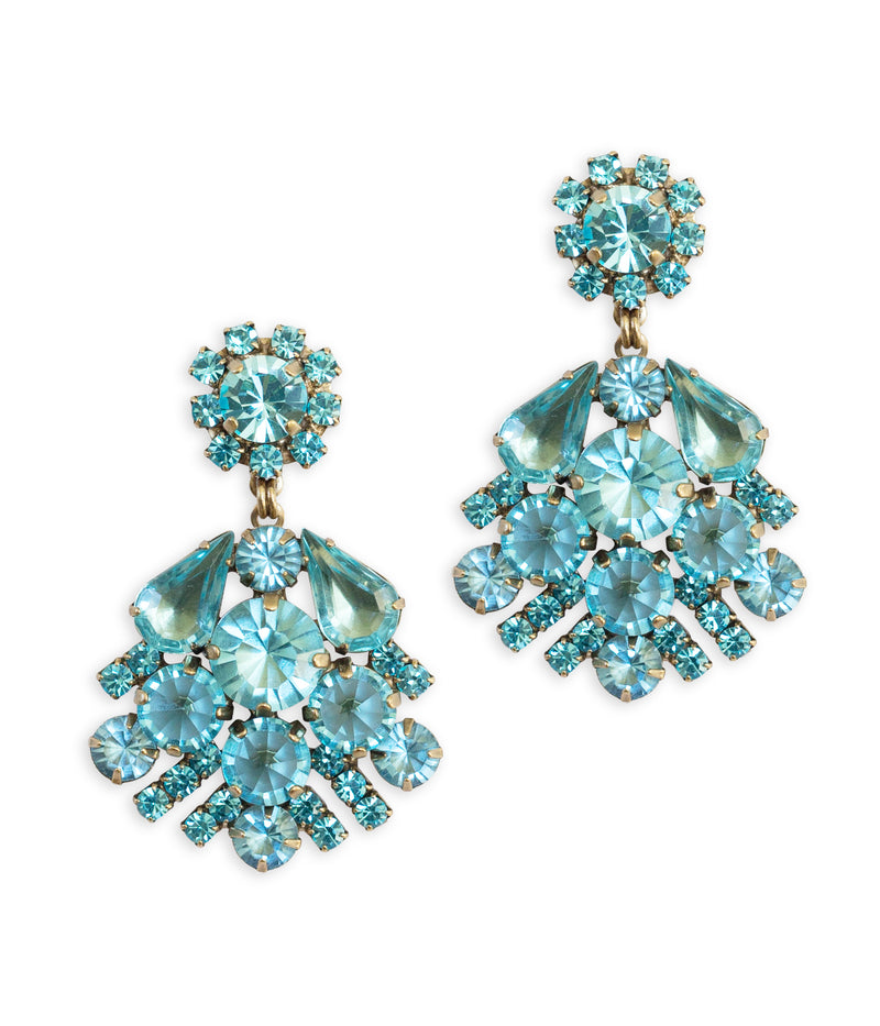 Willa Earrings in Aqua