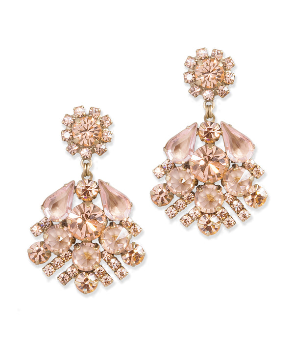 Willa Earrings in Peach