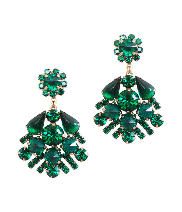 Willa Earrings in Emerald
