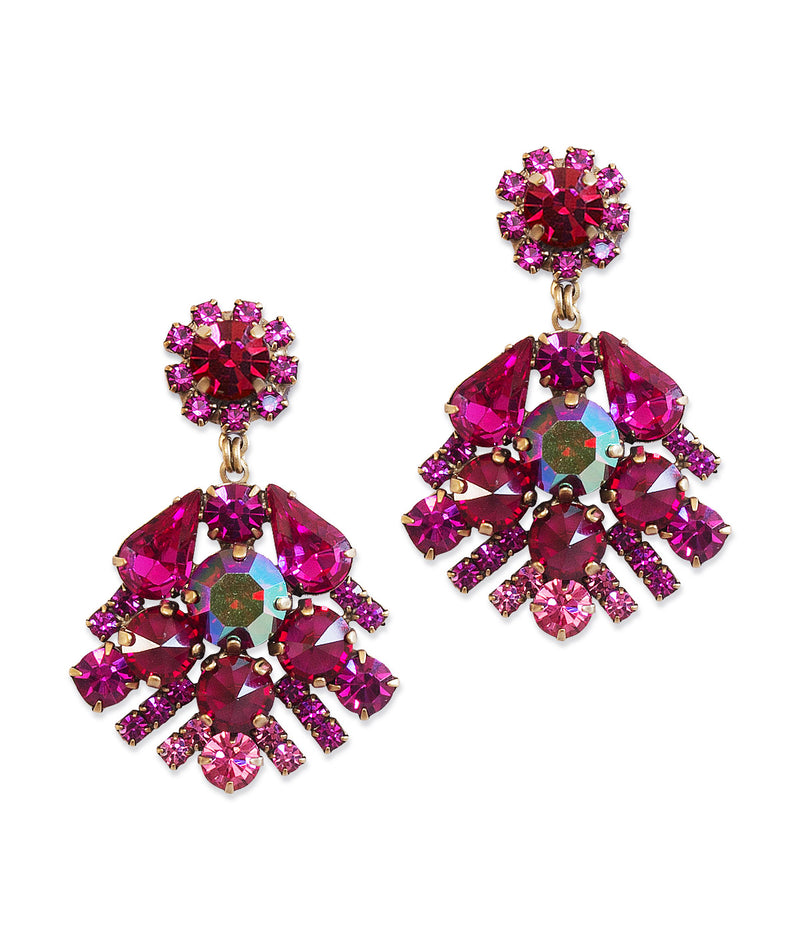 Willa Earrings in Ruby