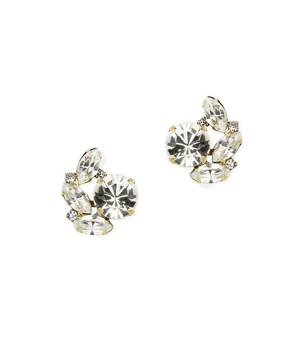 Hattie Studs in Gold Crystal