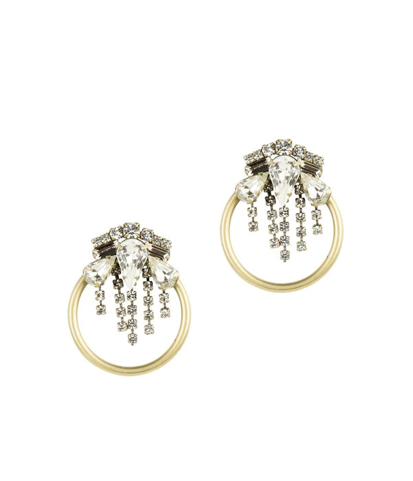 ELSIE EARRINGS IN GOLD CRYSTAL