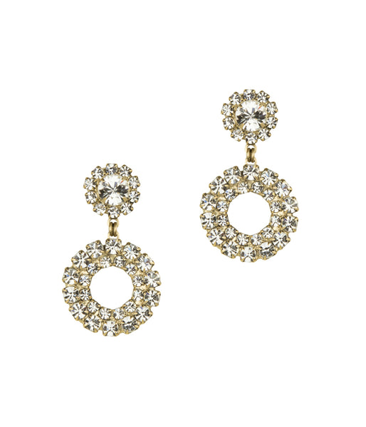 LILLIAN EARRINGS IN GOLD CRYSTAL
