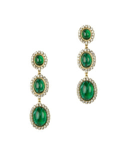 DORIS EARRINGS IN EMERALD