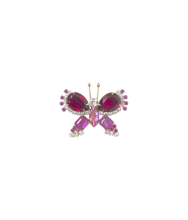 EXTRA SMALL BUTTERFLY IN RUBY / ROSE