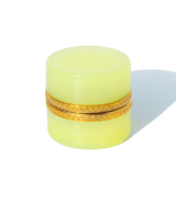 Small Round Light Lime Opaline Glass Box