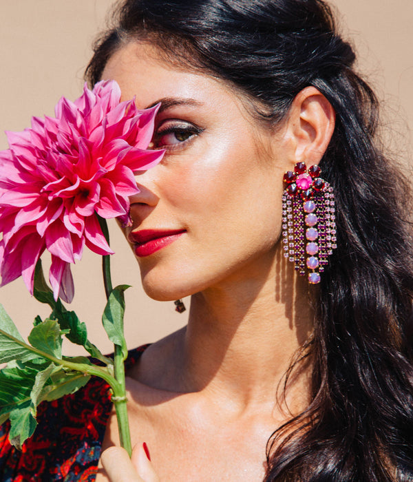 SIENA STATEMENT EARRING RUBY