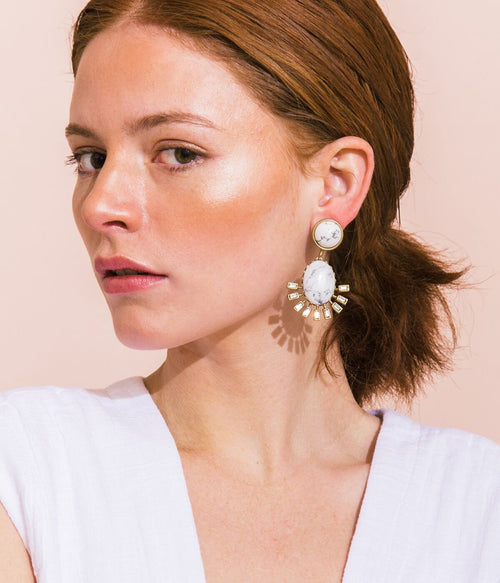 ROXY EARRINGS IN HOWLITE
