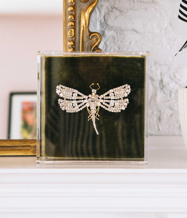 Large Dragonfly in Crystal