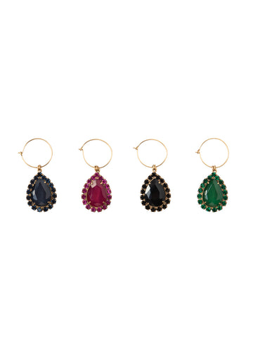 Wine Charms in Red