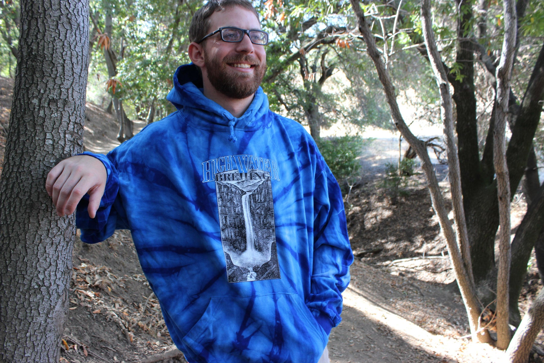 A4 High Water Tie Dye Royal Blue Hoodie Pullover