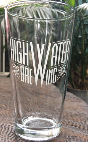 M4 16 oz High Water Logo Pint Glass