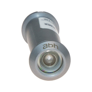 Satin chrome door viewer with acrylic lenses