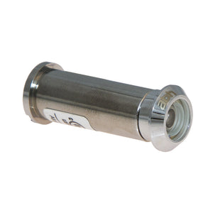 160 Degree Brass Door Viewer in Polished Chrome with Free Closer