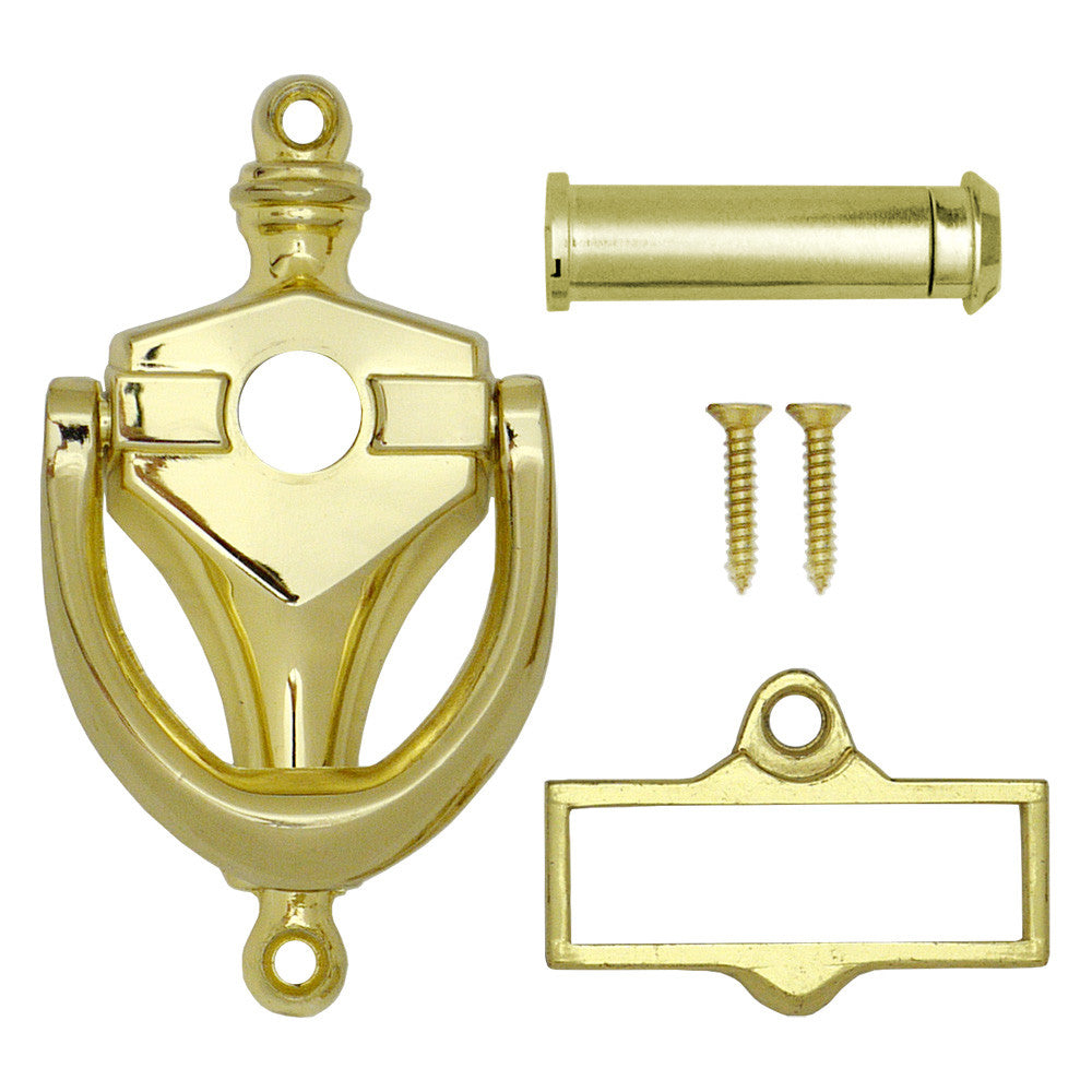 Door knocker with viewer and name card holder accent builders hardware - Door knocker with viewer ...