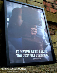It Never Gets Easier You Just Get Stronger - A2 Poster - CutAndJacked Shop  - 3