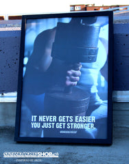 It Never Gets Easier You Just Get Stronger - A2 Poster - CutAndJacked Shop  - 2
