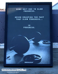 Slow Progress Is Progress - A2 Poster - CutAndJacked Shop  - 1