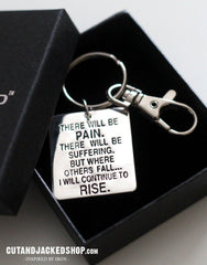 There will be pain - Key Ring - CutAndJacked Shop  - 1