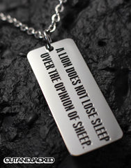 A lion does not lose sleep over the opinion of sheep - Necklace -Stainless Steel - CutAndJacked Shop