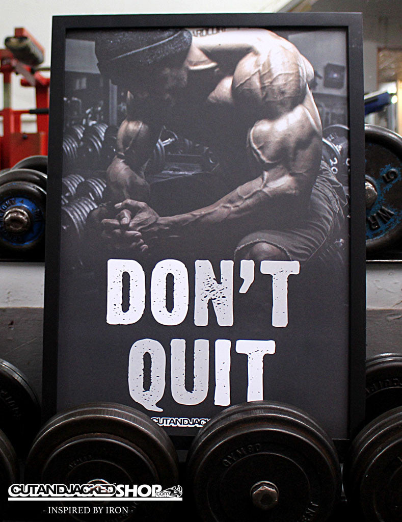 don t quit a2 gym motivation poster cutandjacked shop