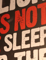 "A2 Poster - ""A Lion Does Not Lose Sleep Over The Opinion Of Sheep"" - CutAndJacked Shop  - 7"
