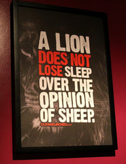 "A2 Poster - ""A Lion Does Not Lose Sleep Over The Opinion Of Sheep"" - CutAndJacked Shop  - 5"