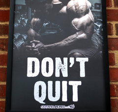 Don't Quit - A2 Poster - CutAndJacked Shop  - 8