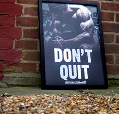 Don't Quit - A2 Poster - CutAndJacked Shop  - 7