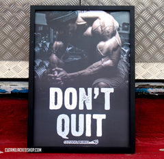 Don't Quit - A2 Poster - CutAndJacked Shop  - 3