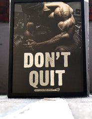 Don't Quit - A2 Poster - CutAndJacked Shop