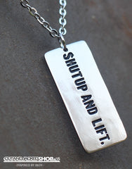 Shutup And Lift - Necklace - CutAndJacked Shop