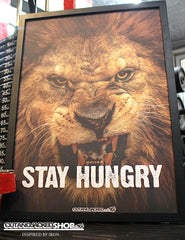 STAY HUNGRY - A2 Poster - CutAndJacked Shop  - 1