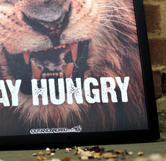 STAY HUNGRY - A2 Poster - CutAndJacked Shop  - 6