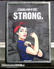 Strong For A Girl - A2 Poster - CutAndJacked Shop