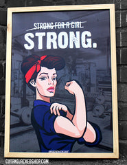Strong For A Girl - A2 Poster - CutAndJacked Shop  - 4