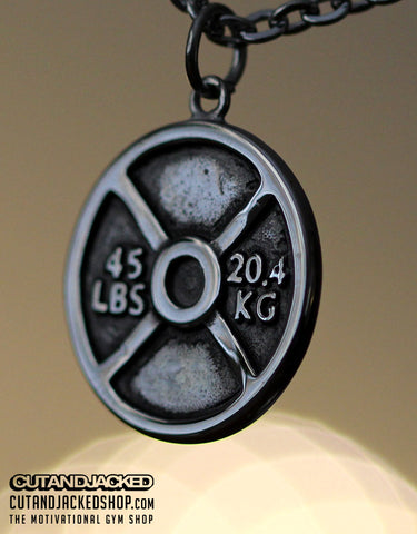 Weight Plate - Necklace - Stainless Steel