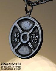 Weight Plate - Necklace - Stainless Steel - CutAndJacked Shop
