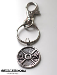 Weight Plate - Key Ring - CutAndJacked Shop