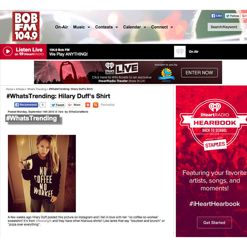 BOBFM104.9 featuring Hilary Duff in 2NOSTALGIK