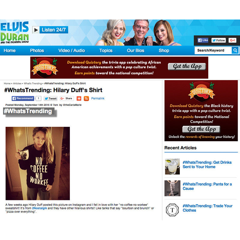 Elvis Duran featuring Hilary Duff in 2NOSTALGIK