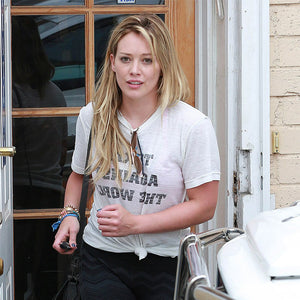 Hilary Duff rocks Texas Against The World 2NOSTALGIK tee