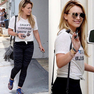Hilary Duff in Texas Against The World Tee