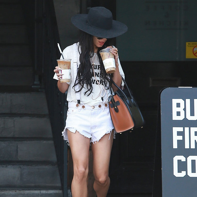 Vanessa Hudgens wearing 2NOSTALGIK California Against the World tee